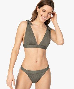 Bas de maillot de bain femme pailleté vue3 - GEMO (PLAGE) - GEMO