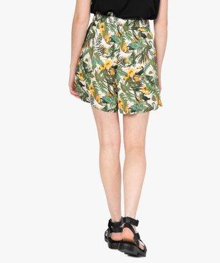Short femme imprimé avec taille haute élastiquée  vue3 - GEMO(FEMME PAP) - GEMO