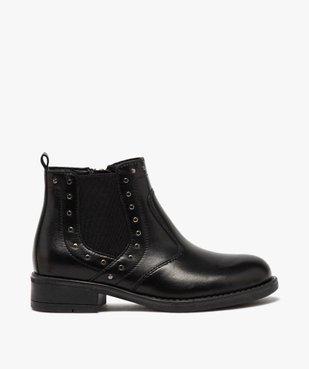 Boots fille en cuir uni style chelsea ornées de clous vue1 - GEMO (ENFANT) - GEMO