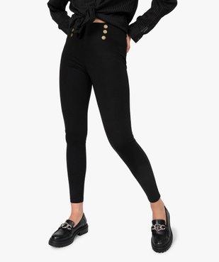 Leggings femme avec boutons fantaisie à la taille vue1 - Nikesneakers(FEMME PAP) - Nikesneakers