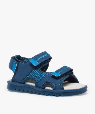 Sandales garçon à scratchs et semelle intérieure cuir vue2 - Nikesneakers (ENFANT) - Nikesneakers