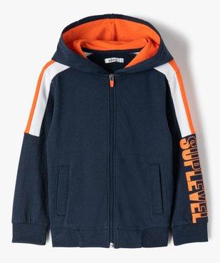 Sweat garçon en molleton à zip et capuche vue1 - Nikesneakers (ENFANT) - Nikesneakers