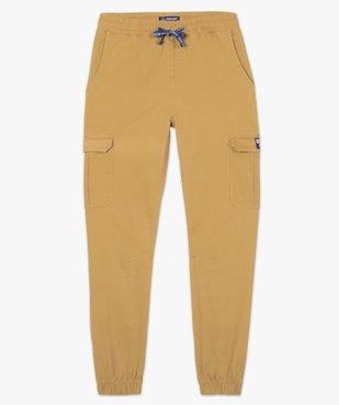 Pantalon homme cargo à taille élastiquée - Roadsign vue4 - ROADSIGN - GEMO