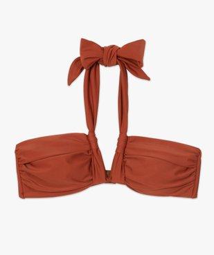 Haut de maillot de bain femme forme bandeau à nouer vue4 - GEMO (PLAGE) - GEMO