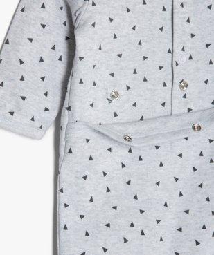 Pyjama bébé en jersey à motif tigre vue4 - GEMO(BB COUCHE) - GEMO