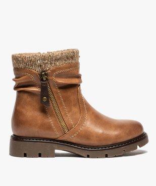 Boots fille à col en maille et semelle crantée vue1 - GEMO (ENFANT) - GEMO