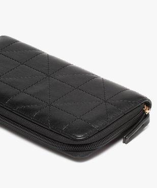 Portefeuille femme zippé au matelassage graphique vue2 - Nikesneakers (ACCESS) - Nikesneakers