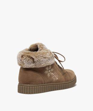 Boots fille rembourrées en suédine unie à col duveteux vue4 - Nikesneakers (ENFANT) - Nikesneakers