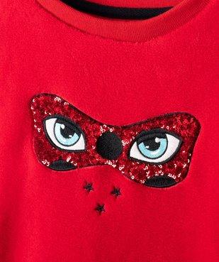 Sweat fille en matière peluche Ladybug - Miraculous vue2 - MIRACULOUS - GEMO
