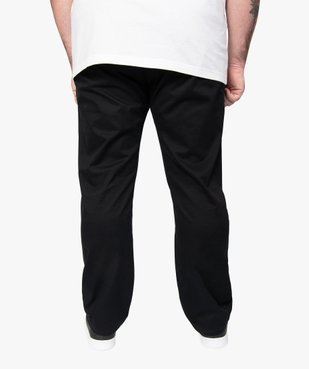 Pantalon homme chino en stretch coupe straignt vue3 - GEMO (G TAILLE) - GEMO