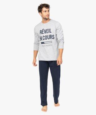 Pyjama homme à manches longues et pantalon large vue2 - GEMO(HOMWR HOM) - GEMO
