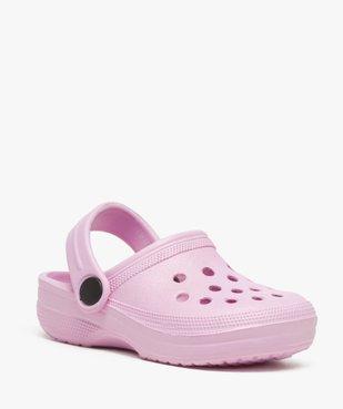 Sabots fille unis perforés avec bride vue2 - Nikesneakers (ENFANT) - Nikesneakers