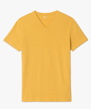Tee-shirt homme à manches courtes et col V coupe slim vue4 - GEMO (HOMME) - GEMO
