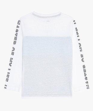 Tee-shirt garçon tricolore à manches longues vue3 - GEMO (ENFANT) - GEMO