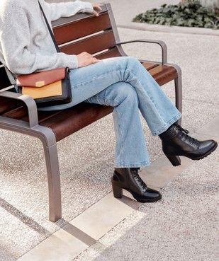 Boots femme à talon col rembourré et semelle crantée vue6 - Nikesneakers(URBAIN) - Nikesneakers