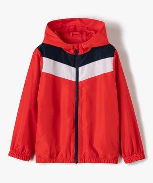Blouson garçon coupe-vent tricolore avec capuche vue1 - Nikesneakers (ENFANT) - Nikesneakers