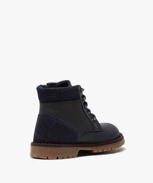 Boots garçon à semelle crantée et col rembourré en denim vue4 - GEMO (ENFANT) - GEMO