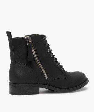 Boots femme style rangers à zip vue4 - GEMO (CASUAL) - GEMO