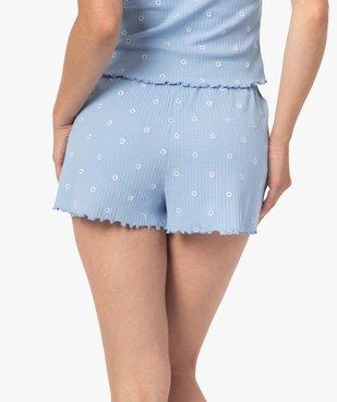 Bas de pyjama femme short fleuri - LuluCastagnette vue3 - LULUCASTAGNETTE - GEMO