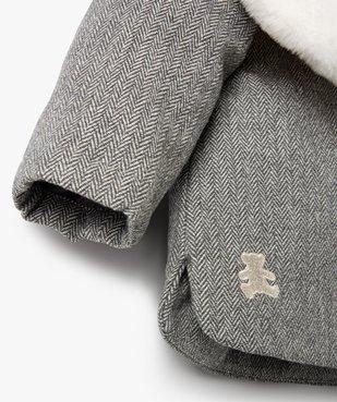 Manteau bébé fille avec écharpe douce - Lulu Castagnette vue2 - LULUCASTAGNETTE - GEMO
