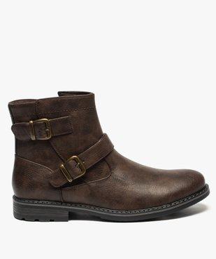 Boots homme à boucles décoratives et doublure chaude vue1 - GEMO (CASUAL) - GEMO