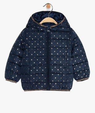 Doudoune bébé fille fine à motifs étoiles et détails pailletés vue1 - GEMO(BEBE DEBT) - GEMO