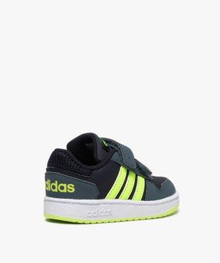 Baskets bébé garçon avec bandes fluo – Adidas Hoop 2.0 vue4 - ADIDAS - GEMO