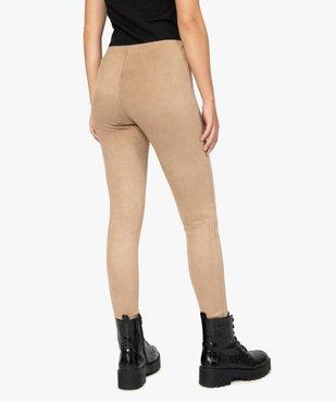 Legging femme en maille suédine vue3 - GEMO(FEMME PAP) - GEMO