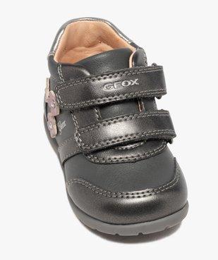 Chaussures bébé fille à scratch décor fleurs - Geox vue5 - GEOX - Nikesneakers