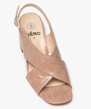 Sandales femme à talon et larges brides croisées vue5 - GEMO(URBAIN) - GEMO