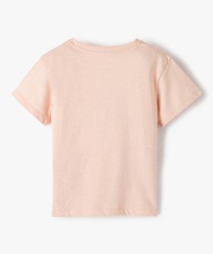 Tee-shirt fille avec motifs pailleté sur l'avant vue3 - GEMO (ENFANT) - GEMO