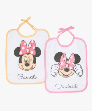 Bavoir bébé en éponge imprimé Minnie - Disney (lot de 7) vue2 - MINNIE - GEMO
