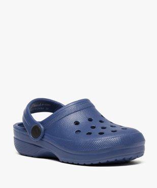 Sabots garçon unis avec perforations vue2 - Nikesneakers (ENFANT) - Nikesneakers