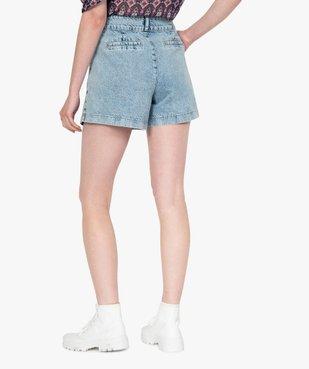Short femme en jean large vue3 - GEMO(FEMME PAP) - GEMO