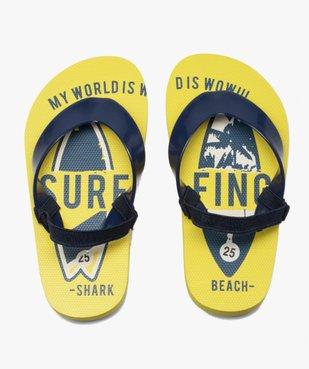 Tongs garçons semelle imprimée surf et bride élastiquée vue1 - Nikesneakers (ENFANT) - Nikesneakers