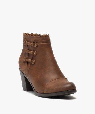 Boots femme unis à talon finitions fantaisie vue2 - GEMO(URBAIN) - GEMO