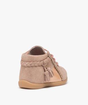 Chaussures premiers pas bébé fille irisées vue4 - Nikesneakers(BEBE DEBT) - Nikesneakers