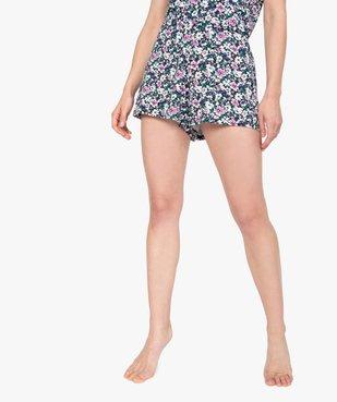 Bas de pyjama femme à motifs fleuris – Lulu Castagnette vue1 - LULUCASTAGNETTE - GEMO