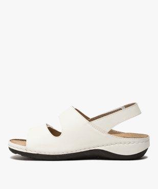 Sandale femme confort à larges brides scratch vue3 - GEMO (CONFORT) - GEMO