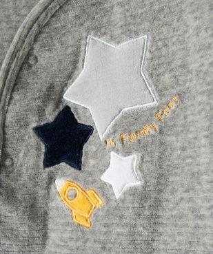 Pyjama bébé garçon avec motifs étoiles et fusée vue2 - GEMO(BB COUCHE) - GEMO
