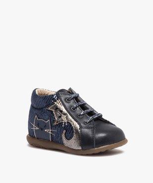 Chaussures premiers pas bébé avec motifs chats - Bopy vue2 - BOPY - Nikesneakers