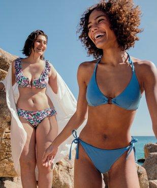 Haut de maillot de bain femme forme triangle avec anneau vue5 - GEMO (PLAGE) - GEMO