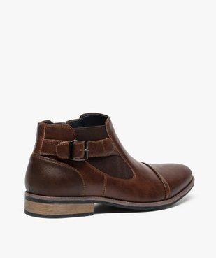 Boots homme fermeture zippée avec bloucle sur le côté vue4 - GEMO (HOMME) - GEMO