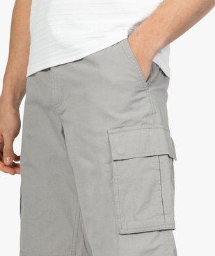 Bermuda homme avec larges poches à rabat vue2 - GEMO (HOMME) - GEMO
