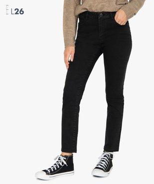 Jean femme slim à taille haute noir - L26 vue1 - Nikesneakers(FEMME PAP) - Nikesneakers