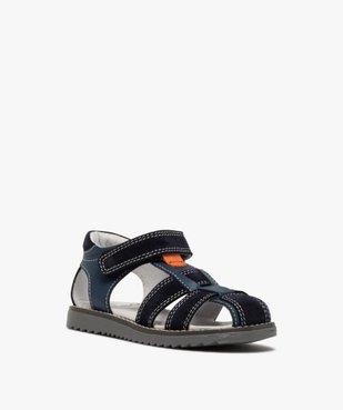 Sandales garçon à brides en cuir et fermeture scratch vue2 - Nikesneakers (ENFANT) - Nikesneakers