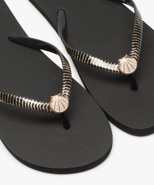 Tongs femme à brides pailletées avec bijou coquillage vue3 - Nikesneakers (PLAGE) - Nikesneakers