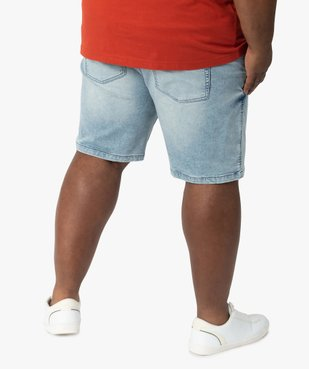 Bermuda homme en jean stretch très délavé vue3 - GEMO (G TAILLE) - GEMO
