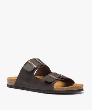 Sandales homme en cuir à larges brides à boucle vue2 - Nikesneakers (CASUAL) - Nikesneakers