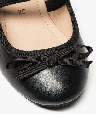 Ballerines fille unies à bride élastique et nœud décoratif vue6 - Nikesneakers (ENFANT) - Nikesneakers